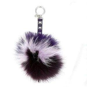 Michael Kors Womens Lollipop Fox Fur Pom Fashion
